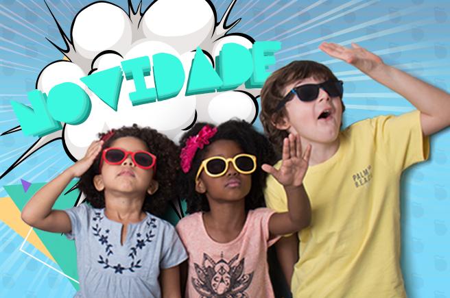 4aa40e982 Você já viu os novos modelos de óculos de sol infantil da UI! Gafas ...